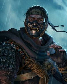 Character Inspiration, Character Art, Character Design, Ninja Gear, Samurai Artwork, Japon Illustration, Ghost Of Tsushima, Arte Cyberpunk, Game Art