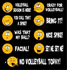 """Volleyball Emotions"" - Volleyball T-Shirt by VictorySportsGraphics"