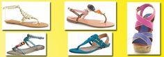 Color sandals