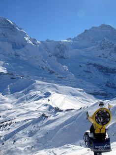 Switzerland - Jungfrau and Monch in winter