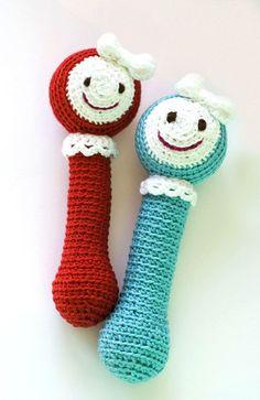 Gehäkelte Babyrassel // Crochet baby rattle by NatalinkaDesign via DaWanda.com