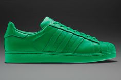 Mens Shoes - adidas Originals Pharrell Williams Supercolor Superstar Tonal - Green - S83389