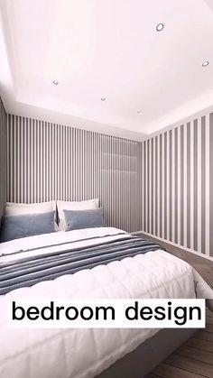 Small Room Design Bedroom, Space Saving Bedroom, Home Room Design, Home Interior Design, Living Room Designs, Bedroom Decor, House Design, Interior Modern, Bedroom Ideas