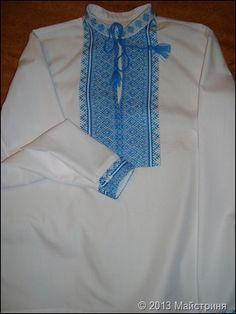 Сорочка українська для хлопчика з довгим рукавом.