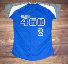 Check out this custom jersey designed by Club 460 Softball and created at Nill Brothers in Kansas City, KS! http://www.garbathletics.com/blog/club-460-softball-custom-jersey/ Create your own custom uniforms at www.garbathletics.com!