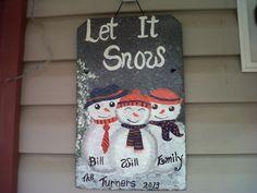 My Auburn Snowman Family!