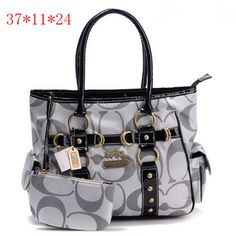 Coach Baby Bag Signature Medium Tote Grey [Coach-0690] - $52.37 : Coach Outlet Canada Online