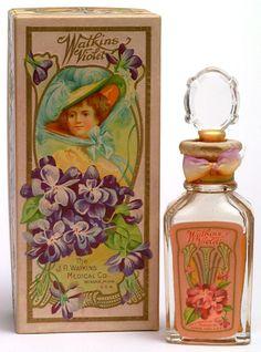 perfume, J. Watkins Medical Co.Violet perfume, J. Watkins Medical Co.