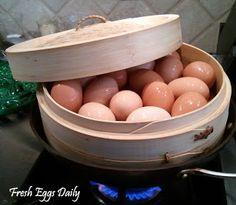 Fresh Eggs Daily®: The Secret to Easily Peeling Fresh Hardboiled Eggs: Steam Them