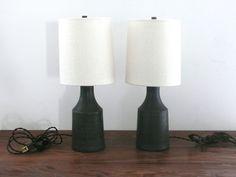 Small Matte Black accent lamp / Victoria Morris Pottery