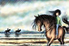 Girl and Horse    http://hazelmitchell.com