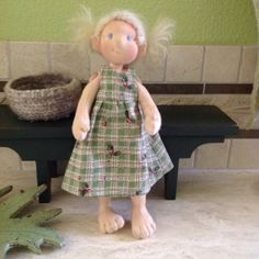 Waldorf inspired, button jointed 9 inch cloth doll with wool stuffing, mischievous spirit....Pippin by PippinandWren on Etsy https://www.etsy.com/listing/226121389/waldorf-inspired-button-jointed-9-inch