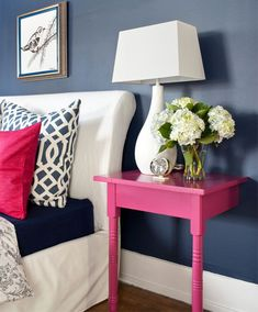 An Awesome idea for a nightstand..split a table and make one for each side
