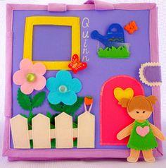Tranquilo libro libro casa de muñecas ocupado libro fieltro