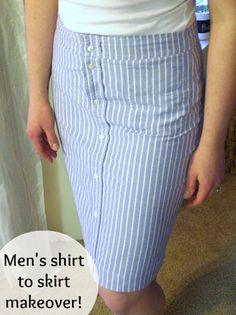 Man shirt --> skirt :)