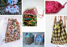Love bags? 28 How to Make a Drawstring Bag Tutorials and Drawstring Bag Patterns