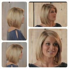 I love Candace Cameron Bure's hair and am always looking for good pics of it. These screen shots from a video show some great views of her hair. Especially loving the back! by Annette Scherrens-Sehlstrom Haircut And Color, Hair Color And Cut, Back Of Bob Haircut, Medium Hair Styles, Short Hair Styles, Look 2018, Great Hair, Up Girl, Hair Today