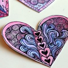 Make some cute and artsy Zentangle Valentines this year with this tutorial!