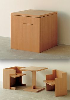 Compact Cube Dining Table