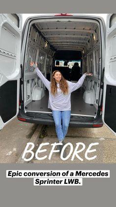 Build A Camper Van, Bus Camper, Camper Life, Rv Vehicle, Lux Cars, Bus Life, Van Interior, Van Living, Camper Renovation
