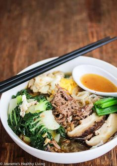 If you can successfully eat this whole bowl with chopsticks, you win. Get the recipe from Jeanette's Healthy Living.   - Delish.com