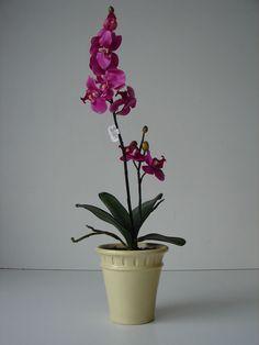 Künstliche Phalaenopsis Orchidee getopft 54 cm lila Kunstblumen Orchideen Blumen