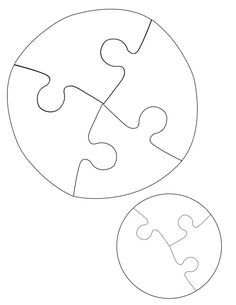 Jigsaw Puzzles Circle Puzzle Pattern Craft Ideas Pinterest