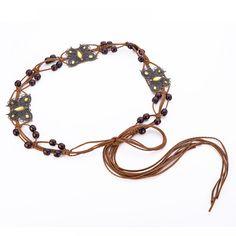2017 New Ethnic PU Pure Handmade Retro Wooden Bead Coconut Waist Belts Woven Bohemian Style Waist Chain for Dress Vintage Bohemian, Bohemian Style, Waist Belts, Belts For Women, Wooden Beads, Pure Products, Free Shipping, Chain, Retro