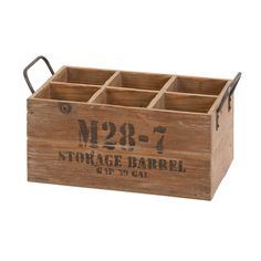 Natural Stamped Wooden Wine Crate   Overstock™ Shopping - Great Deals on Accent Pieces