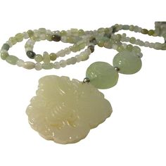 Wow! this store has some wonderful jade necklaces.  from Eurasian Collectibles on Ruby Lane