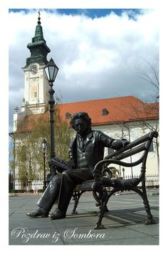 Laza Kostić - serbian poet, Sombor, Serbia