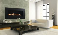 Majestic 60 Inch Echelon Wide View Direct Vent Gas Fireplace with Signature Command Controls - Propane Gas
