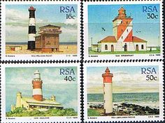 South Africa 1988 Lighthouses Set Fine Mint SG 649 52 Scott 714 7 Other Stamps of South Africa HERE