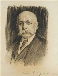 John Singer Sargent - Portrait of Sir Maximilian Michaelis 1915 John Singer Sargent John Singer Sargent, Charcoal Portraits, Charcoal Art, Crayon, Magazine Art, Portrait Art, American Artists, Art Sketches, Illustrators