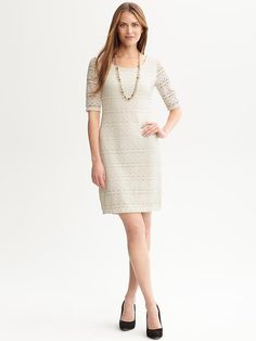 Totally into this Banana Republic crochet dress for summer days at the office! @zuuzs and @zuuzStyle
