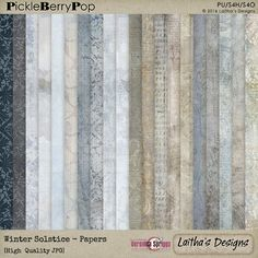 Winter Solstice - Papers By Laitha's Designs