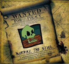 Monkey Island - WANTED! Murray, the Skull