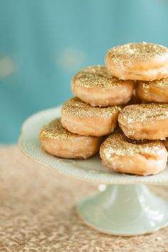 Because it's the perfect occasion for glittery donuts.