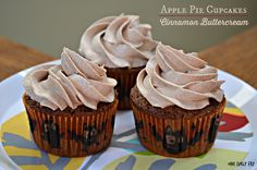 Apple Pie Cupcakes with Cinnamon Buttercream Frosting