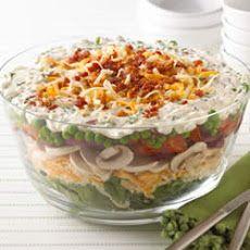 Layered Summer Salad from KRAFT® Shredded Cheese Recipe