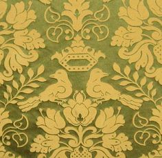 Scalamandre 100% Silk Gothic Medieval Love Birds Damask Drapery Fabric Museum Repro from Late 1500s!