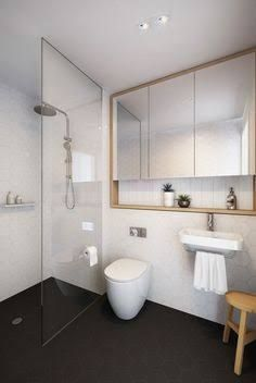 Image result for recessed shaving cabinet timber shelves