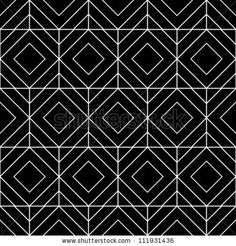 Abstract geometric seamless pattern. Black and white style pattern with rhombus and lines. by zubarevid, via Shutterstock