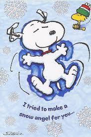 Snoopy Snow Angel