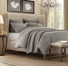 love this bed and bedding - Restoration Hardware
