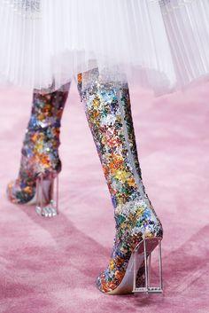 Christian Dior shoes | HC | SS15 glitter block heel knee high