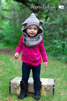 Bear Hooded Cowl Child cowl Crochet Bear by CraftingAdventures