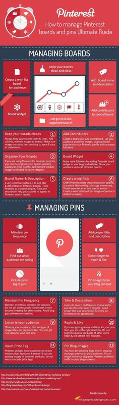 How to manage pinterest boards and pins - ultimate guide ---> #infographic… #BusinessAnalyst
