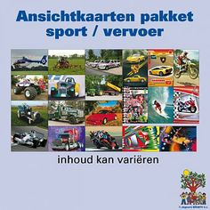 Ansichtkaartenpakket Sport en Vervoer