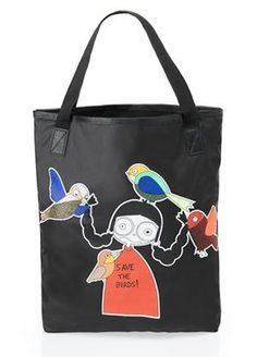 99.99- 0.00 Marc by Marc Jacobs Miss Marc Saves the Birds Nylon Shopper  Bag Tote 73969661b46